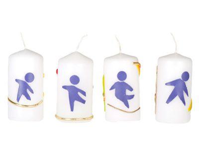 Bougies de Noël avec logo