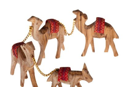 Caravane avec l'âne et trois chameaux